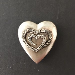 Jewelry - Vintage Heart Pocket Locket .925